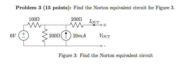 Find Norton equivalent circuit