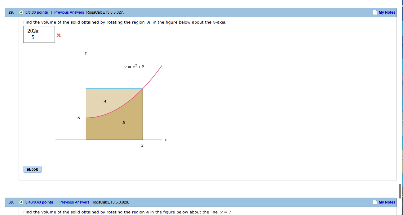 Find the volume of the solid obtained by rotating chegg find the volume of the solid obtained by rotating ccuart Image collections