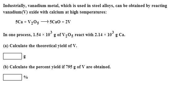 Industrially, vanadium metal, which is used in ste