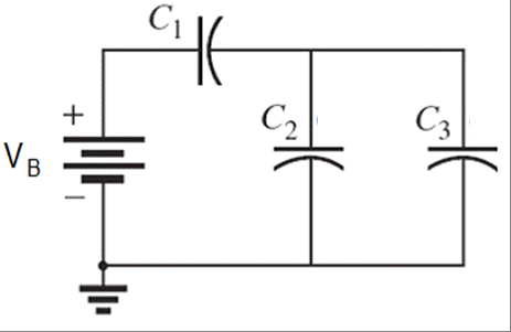 For the circuit shown in the picture, C1= 7.2 uF,