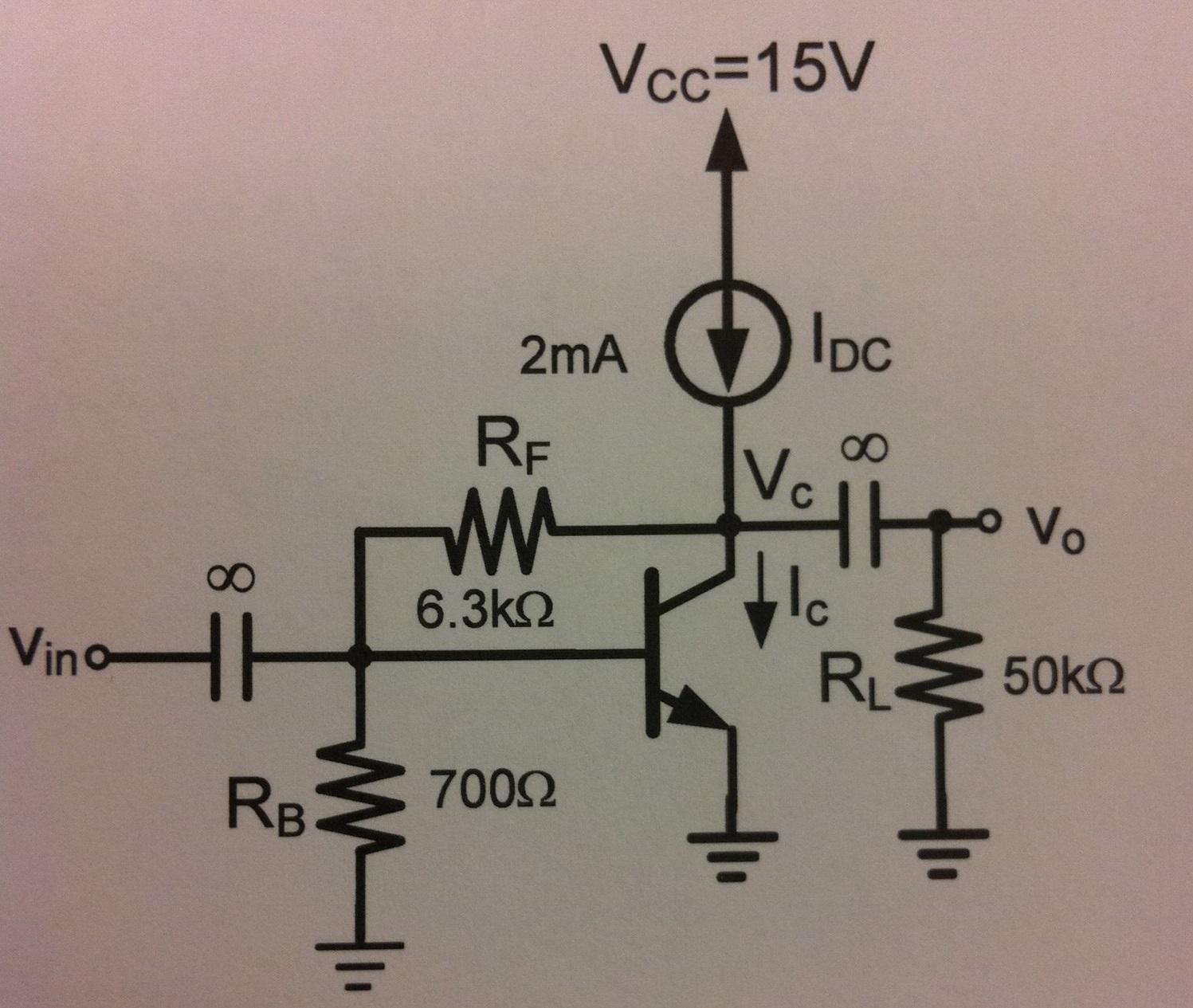 For the circuit shown, I_DC is ideal. Assume V_BEo