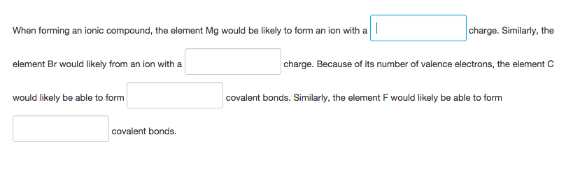 When Forming An Ionic Compound, The Element Mg Wou... | Chegg.com