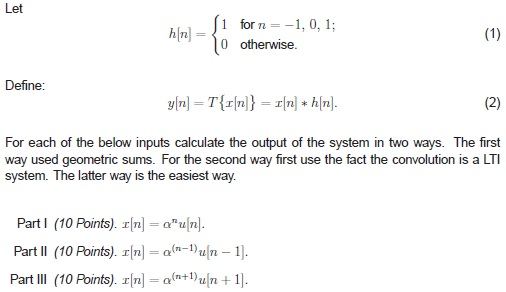 Let Define: For each of the below inputs calcula