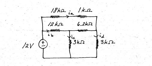 Find the thevenin equivalent circuit, where the e