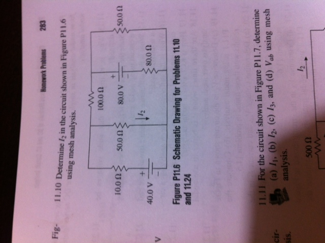 Determine l2 in the circuit shown in Figure P11.6