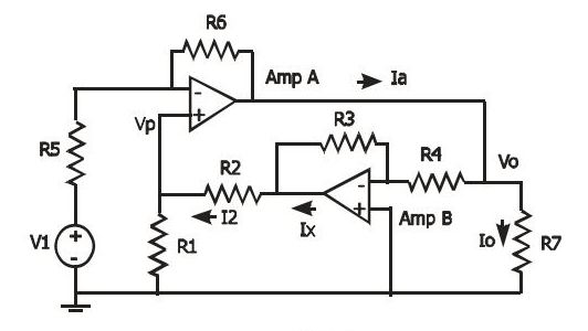 The figure shows circuit of part of a control syst