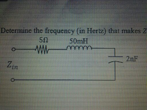 Determine the frequency (in Hertz) that makes
