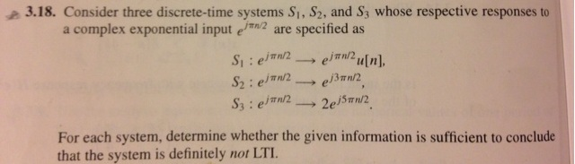 Consider three discrete-time system S1,S2, and S3