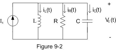 In the circuit shown in Figure 9-2, Is=10u(-t) A
