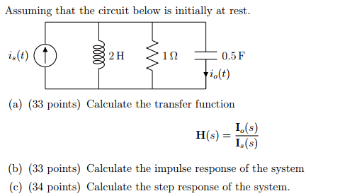 Assuming that the circuit below is initially at re