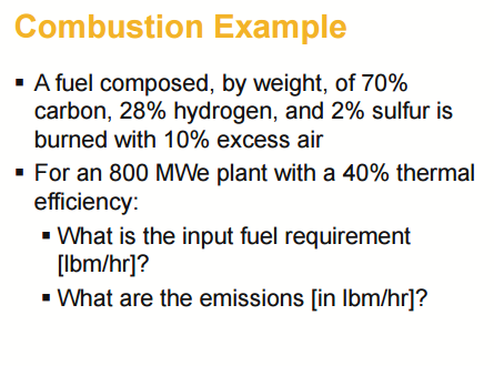 Solved Combustion Example A Fuel Composed By Weight Of