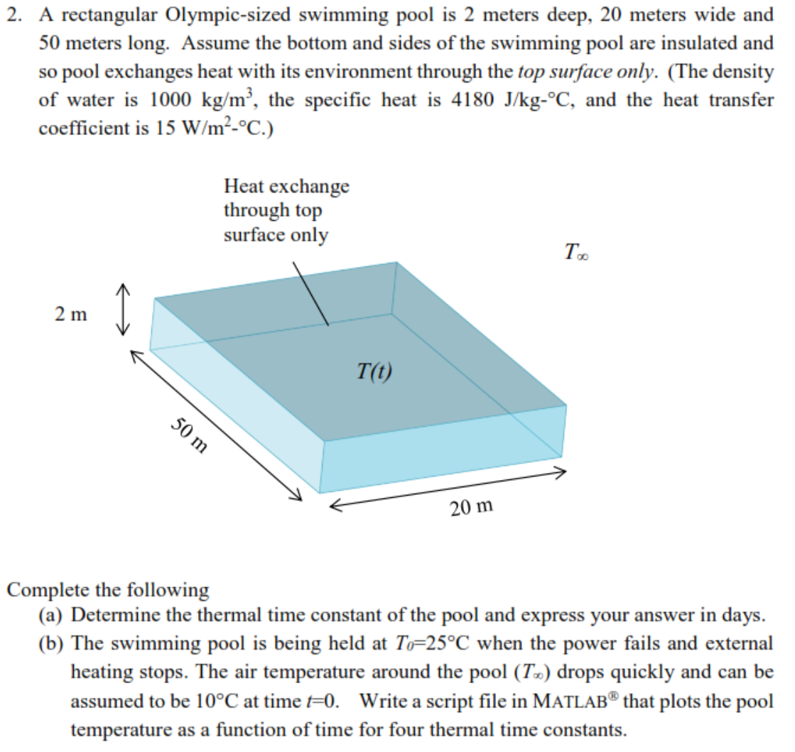 matlab not required a rectangular olympic sized swimming pool is 2 met