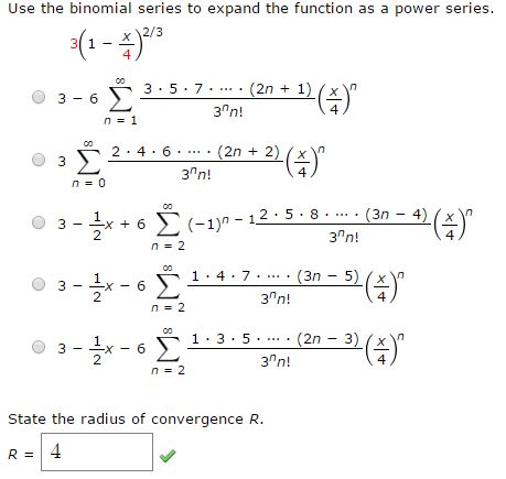 binomial expansion questions and answers pdf