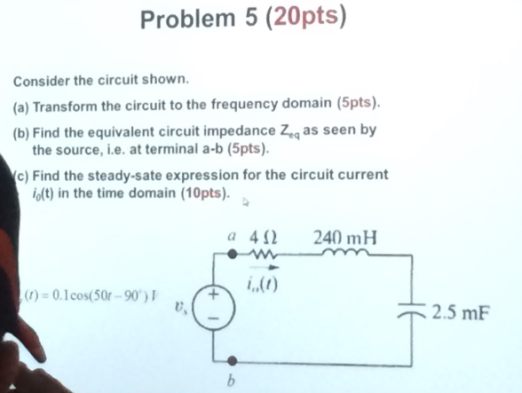 Consider the circuit shown. Transform the circuit