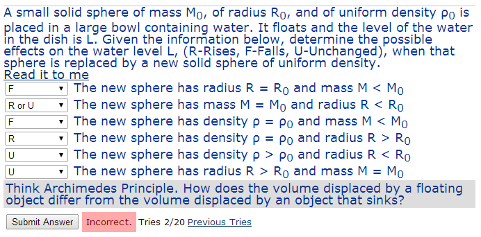 how to find mass of sphere with density