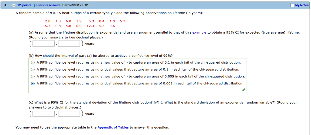 Solved: What Is A 95% CI For The Standard Deviation Of The ...