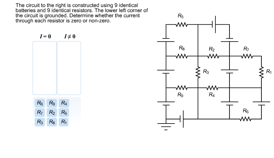 The circuit to the right is constructed using 9 id