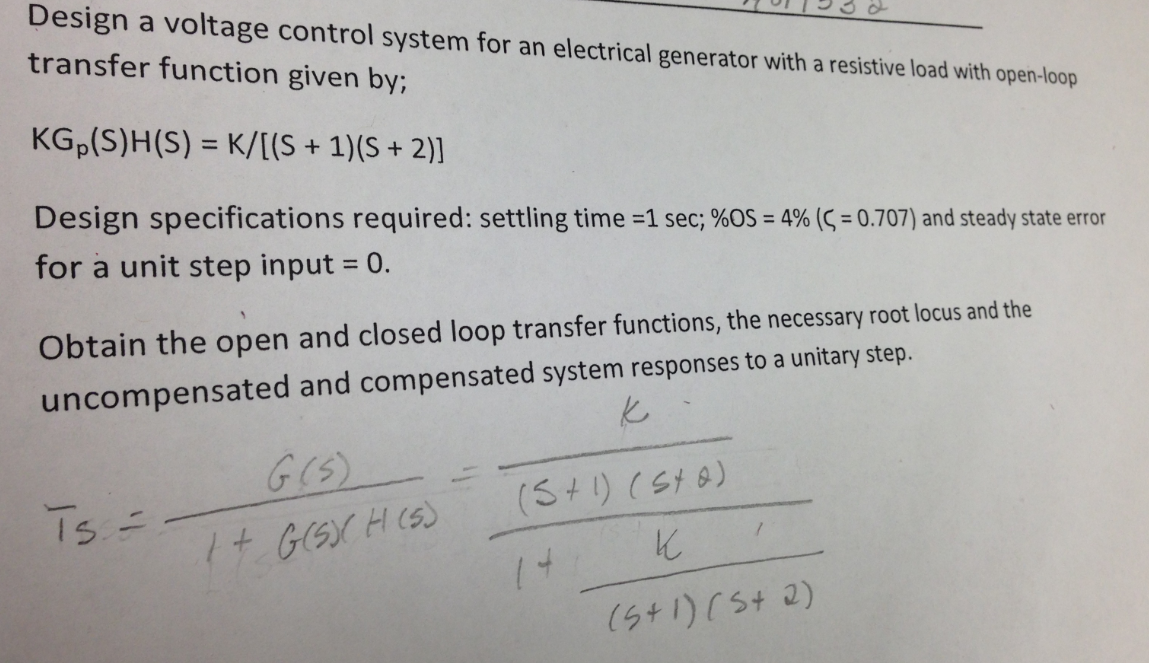 Design a voltage control system for an electrical