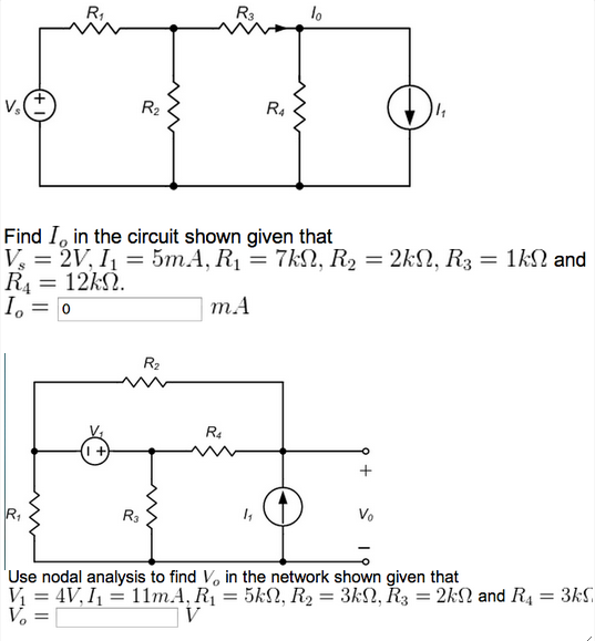 Find Io in the circuit shown given that Vs = 2V