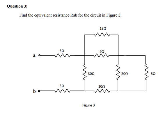 Find the equivalent resistance Rab for the circuit