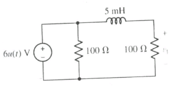 Referring to the circuit shown below, compute V1(t