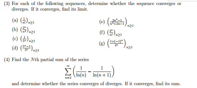 sequences and convergence Math discrete math sequences and series series convergence and divergence convergence tests are nothing but the methods of testing for the convergence.