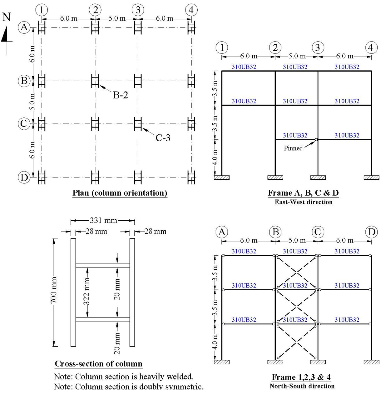 Plan Elevation Cross Section : Plan view of a storey building cross section an