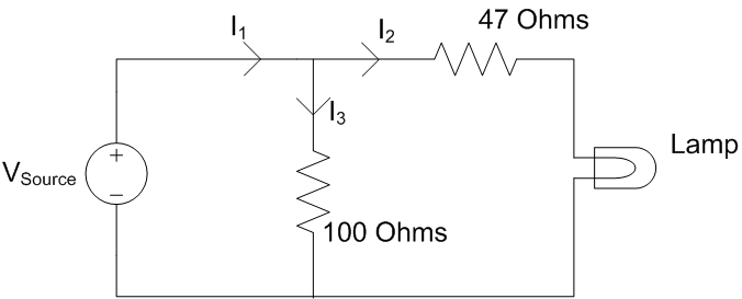 Assume Vsource = 4.5V. Note that with a parallel c