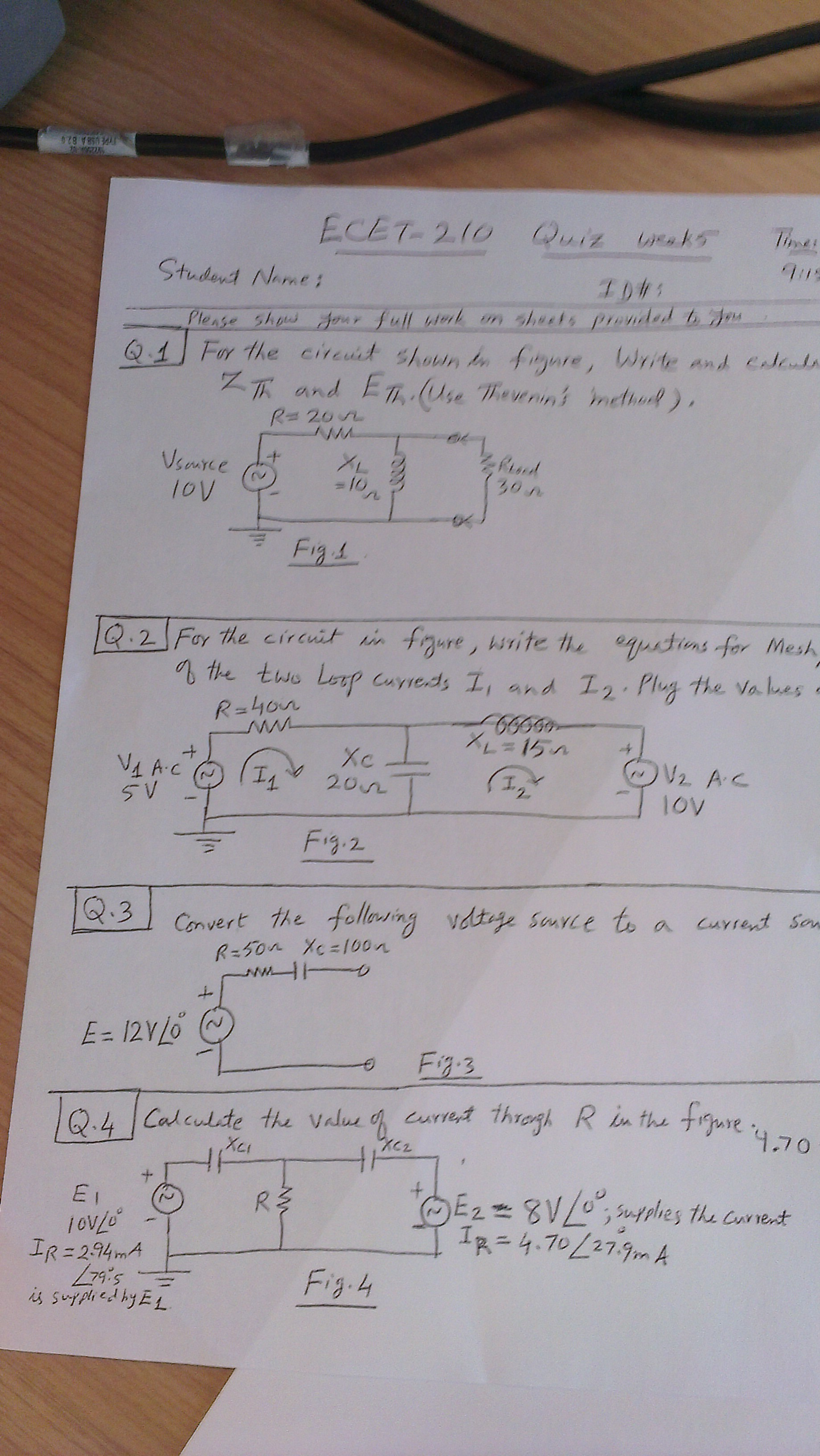 Of the Loop currents I1 and I2.Plug the values als