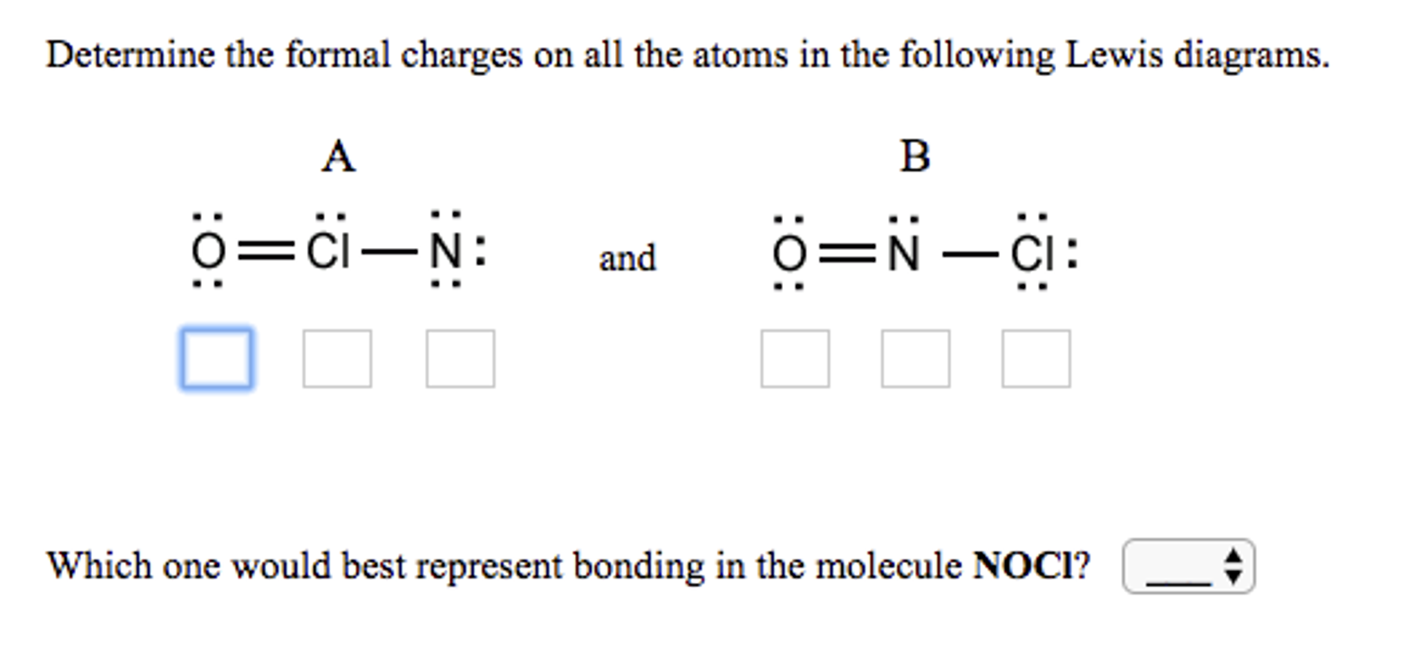 Determine the formal charges on all the atoms in t chegg determine the formal charges on all the atoms in t pooptronica Images