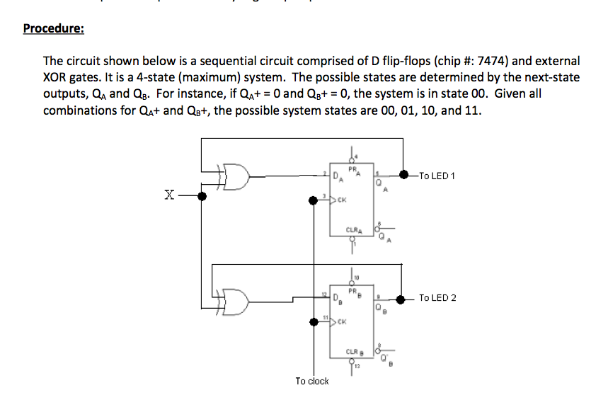 The circuit shown below is a sequential circuit co