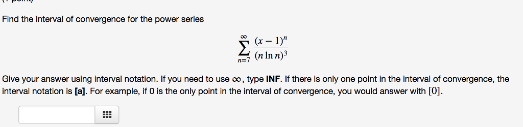 Find The Interval Of Convergence For The Power Ser... | Chegg.com