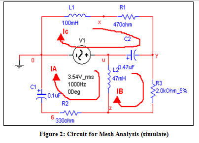 Write the mesh equations for the circuit in Figure