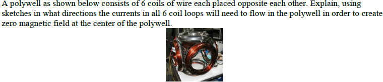 A polywell as shown below consists of 6 coils of w
