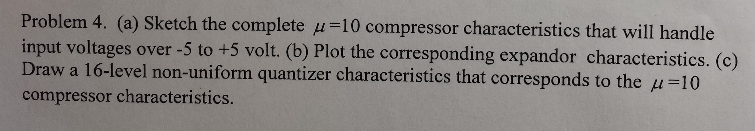 Sketch the complete mu = 10 compressor characteris