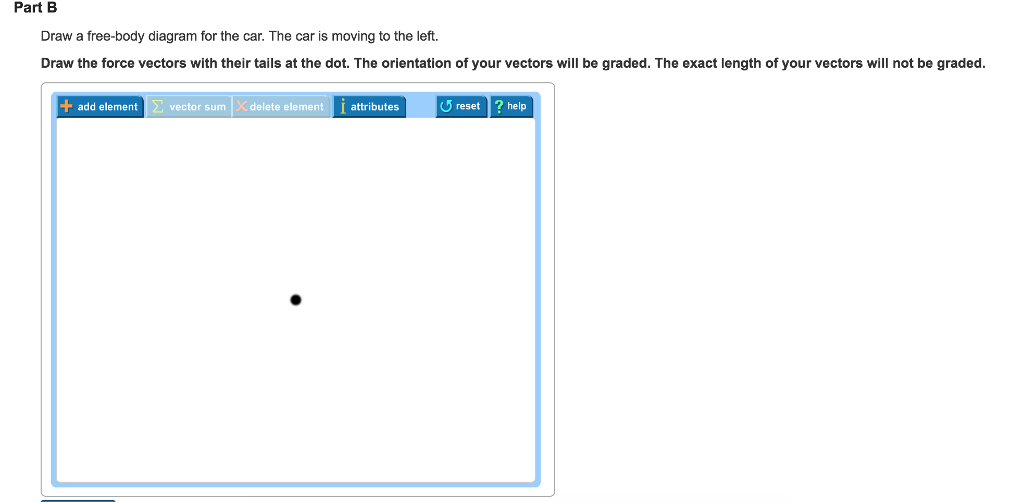Solved: Part B Draw A Free-body Diagram For The Car. The C ...