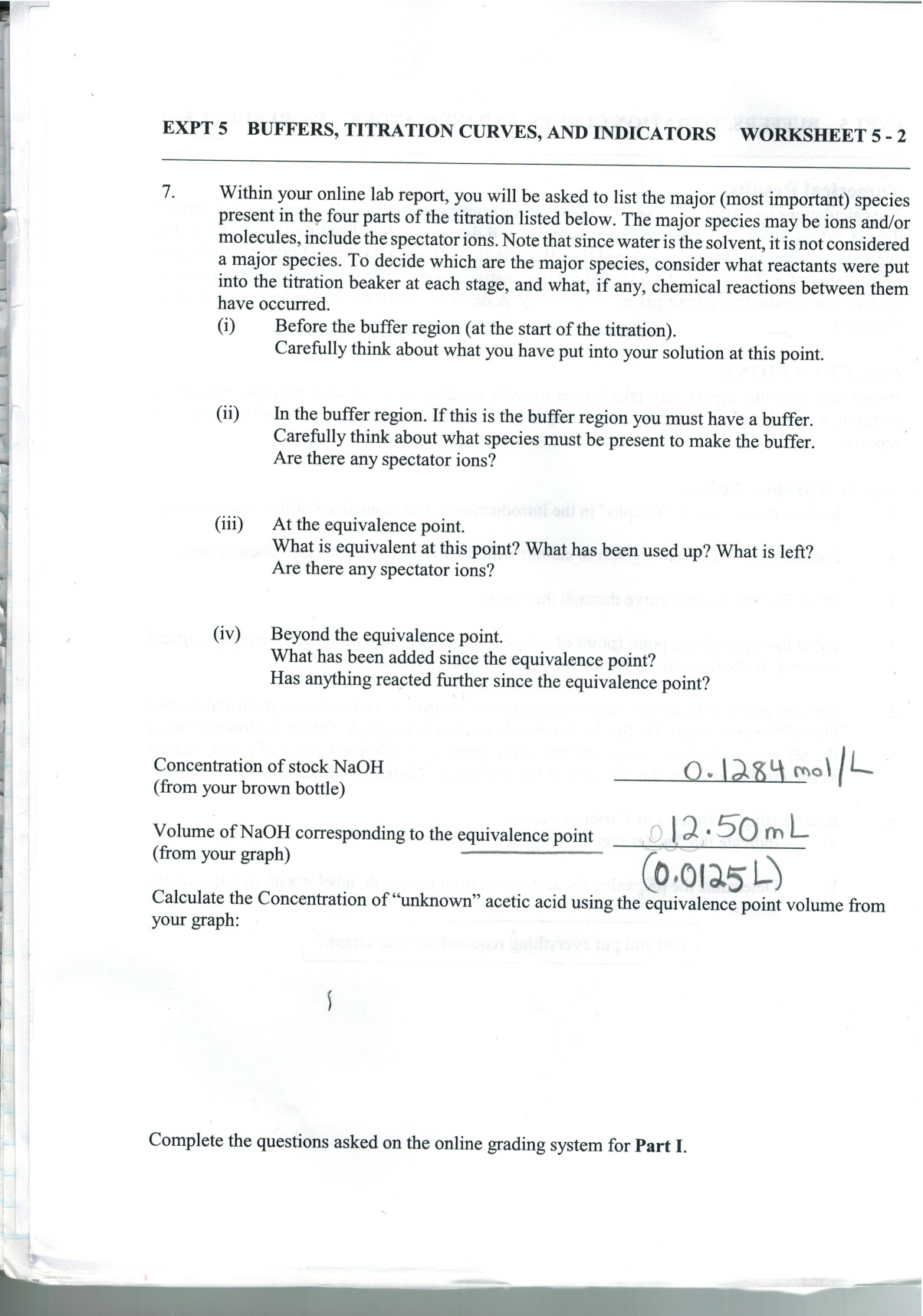 I Need Help With These Lab Report Questions I Did – Titrations Practice Worksheet