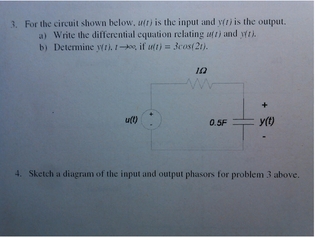 For the circuit shown below, u(t) is the input and