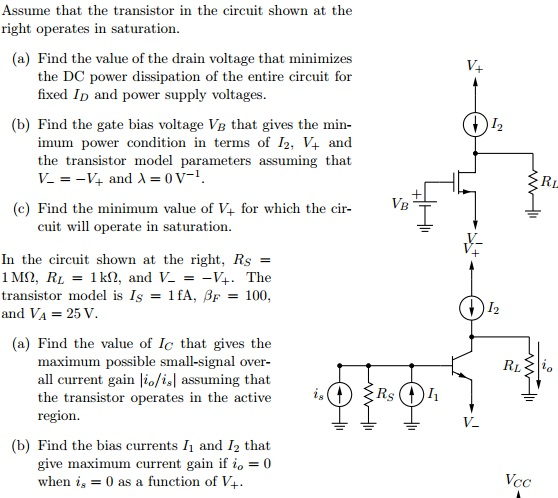 Assume that the transistor in the circuit shown at