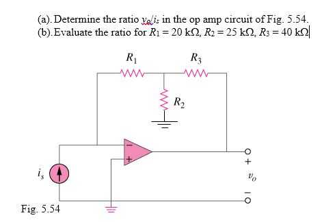 Determine the ratio v0/is in the op amp circuit of