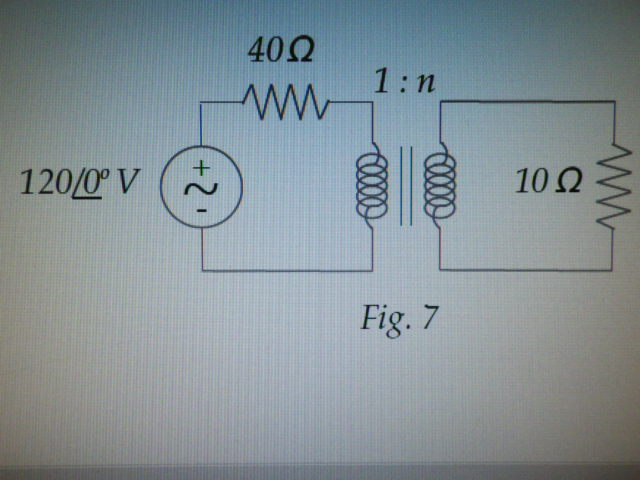 For the circuit of Figure 7, determine the turns r
