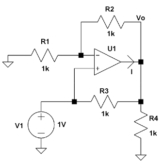 Assuming an ideal op amp,