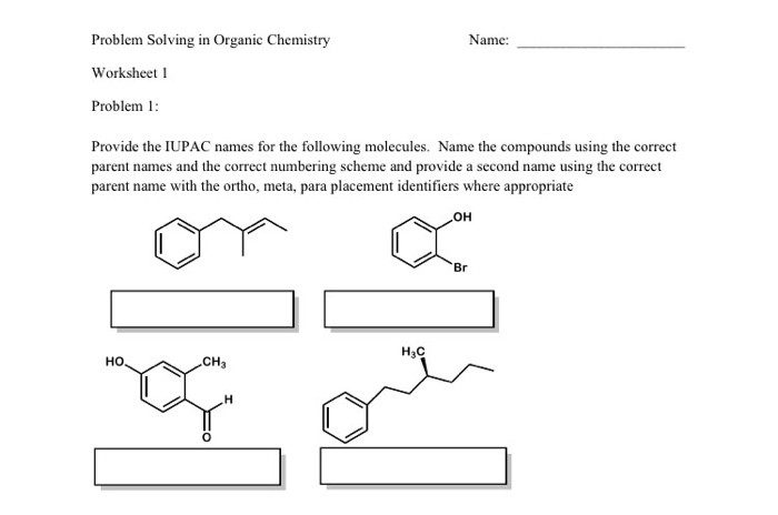 Solved Provide The Iupac Names For The Following Molecule