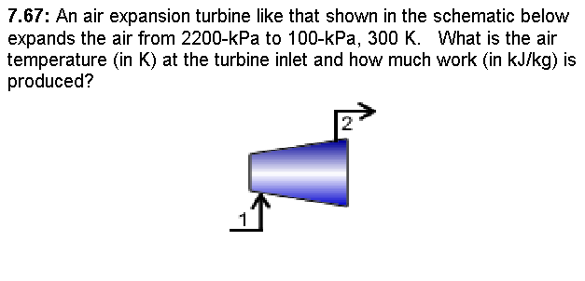 An Air Expansion Turbine Like That Shown In The Sc