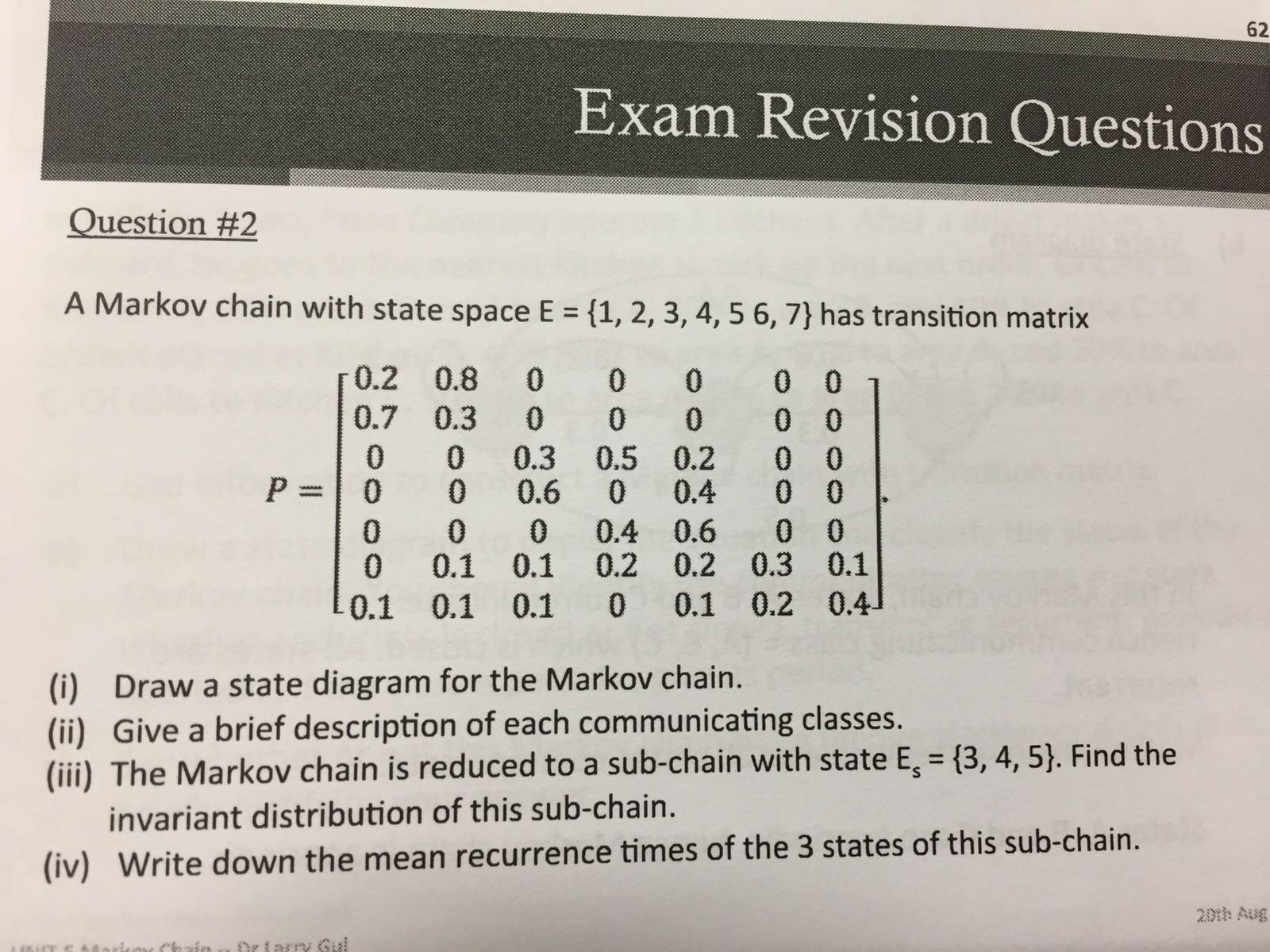 Solved exam revision questions uestion 2 a markov chain exam revision questions uestion 2 a markov chain ccuart Gallery