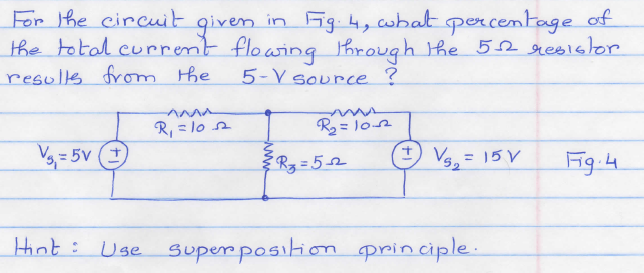 For the circuit given in fig.4, what percentage of