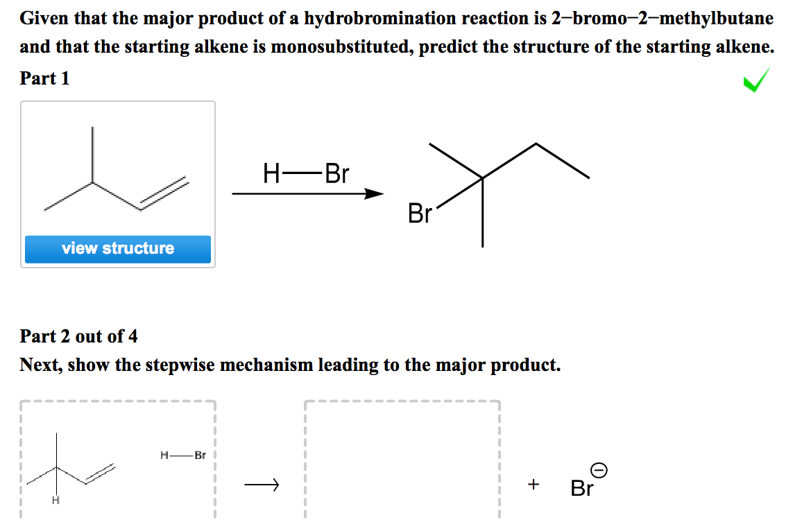 Given That The Major Product Of A Hydrobromination...   Chegg.com