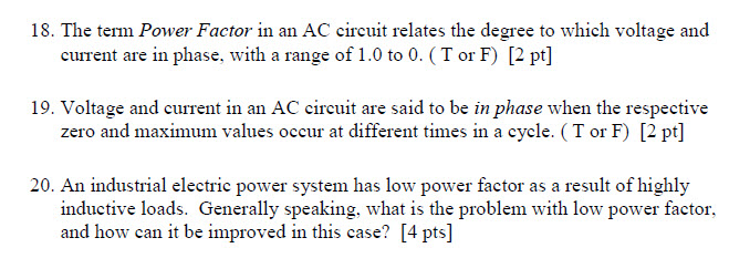 The term Power Factor in an AC circuit relates the