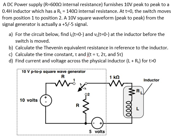 A DC Power supply (R=600 ohm internal resistance)