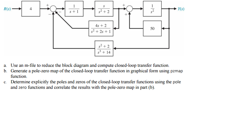 Solved use an m file to reduce the block diagram and comp question use an m file to reduce the block diagram and compute closed loop transfer function generate a ccuart Gallery